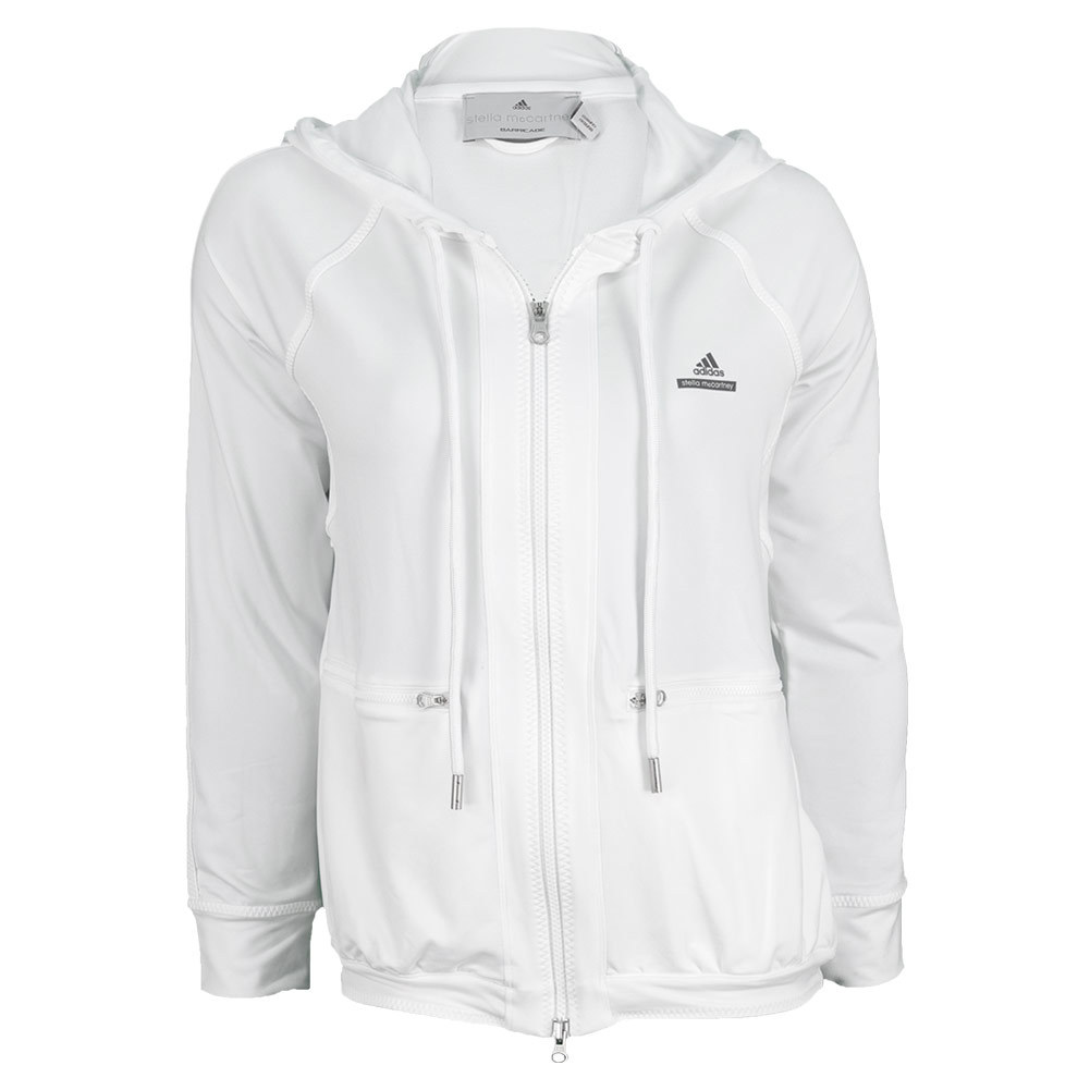 Adidas Women's Stella McCartney Barricade Warm Up Tennis Hoodie White